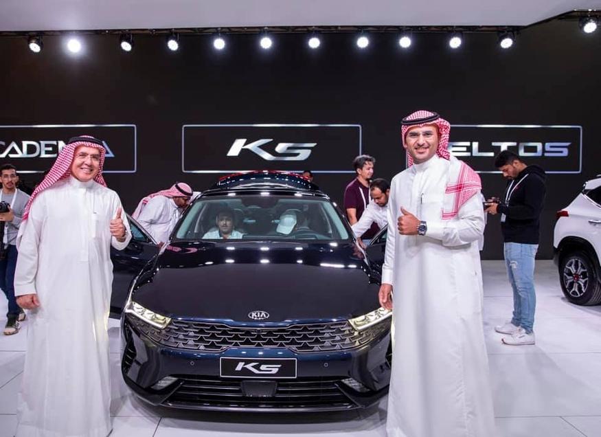 사우디아라비아 국제 모토쇼에 전시되고 있는 K5. (사진=Kia Aljabr 페이스북)