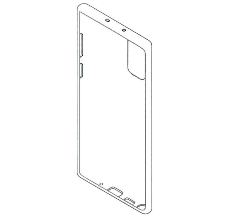 인도 특허청이 공개한 갤럭시 노트20 케이스 디자인 특허 이미지. (사진=IT 매체 'Techbriefly')