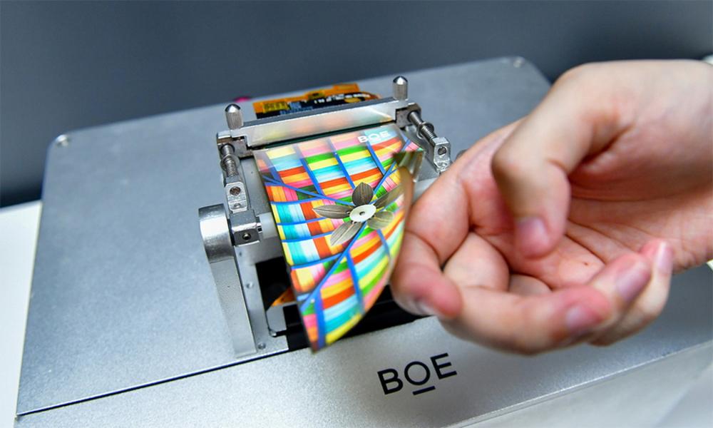 中 BOE, 360도 접히는 폴더블 패널 시제품 공개