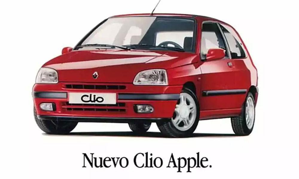 애플카 1997년 이미 등장했다…르노 클리오와 콜라보
