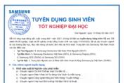 삼성 베트남 대졸 공채…R&D 인력 대규모 채용