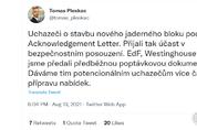 체코, 한수원·EDF·웨스팅하우스 원전 안보 평가 착수