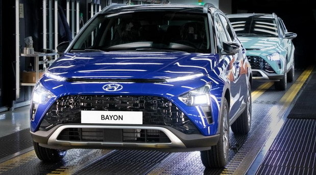 현대차 유럽 전략형 SUV '바이욘'. 지난 14일부터 터키 공장에서 생산되고 있다. (사진=HAOS)
